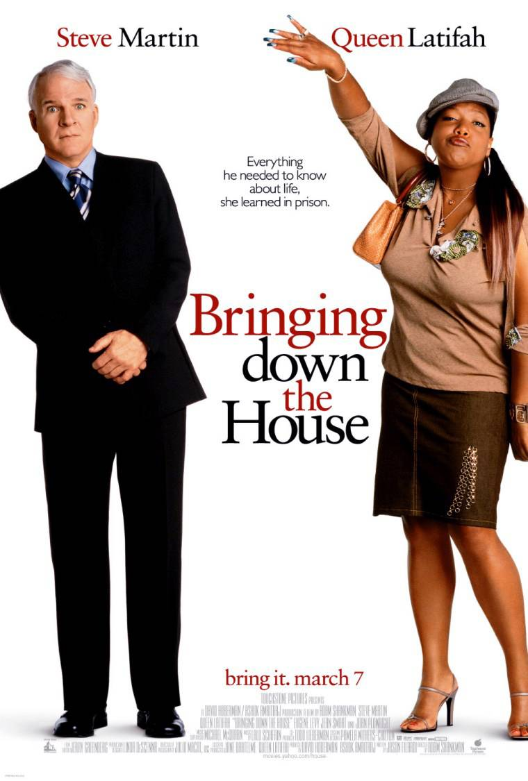 The Evolution of Queen Latifah - Latifah landed one of her first lead roles in the 2003 comedy and box-office smash Bringing Down the House, which also starred Steve Martin.(Photo: Touchstone Pictures)