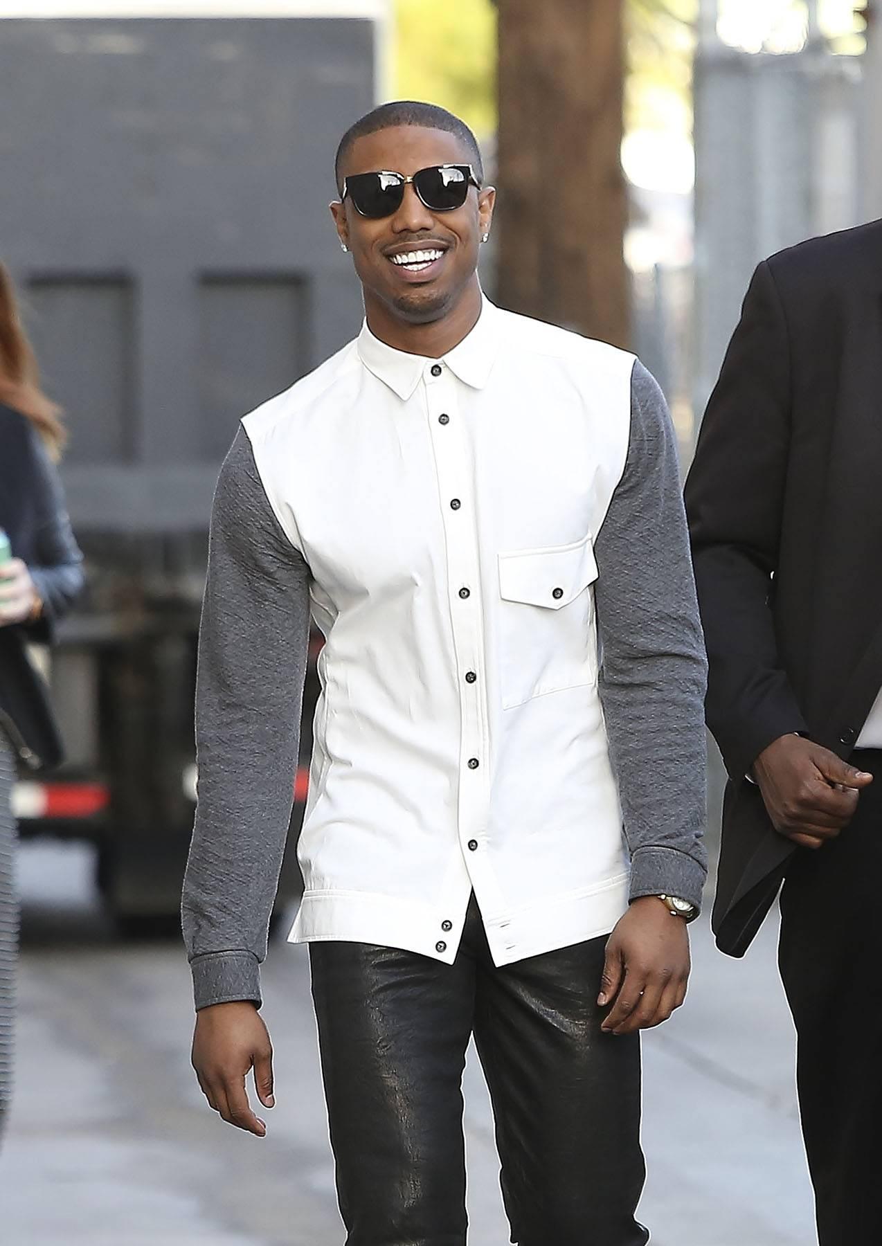 Michael B.'s I'm Having a Good Time Face - (Photo: Splash News)
