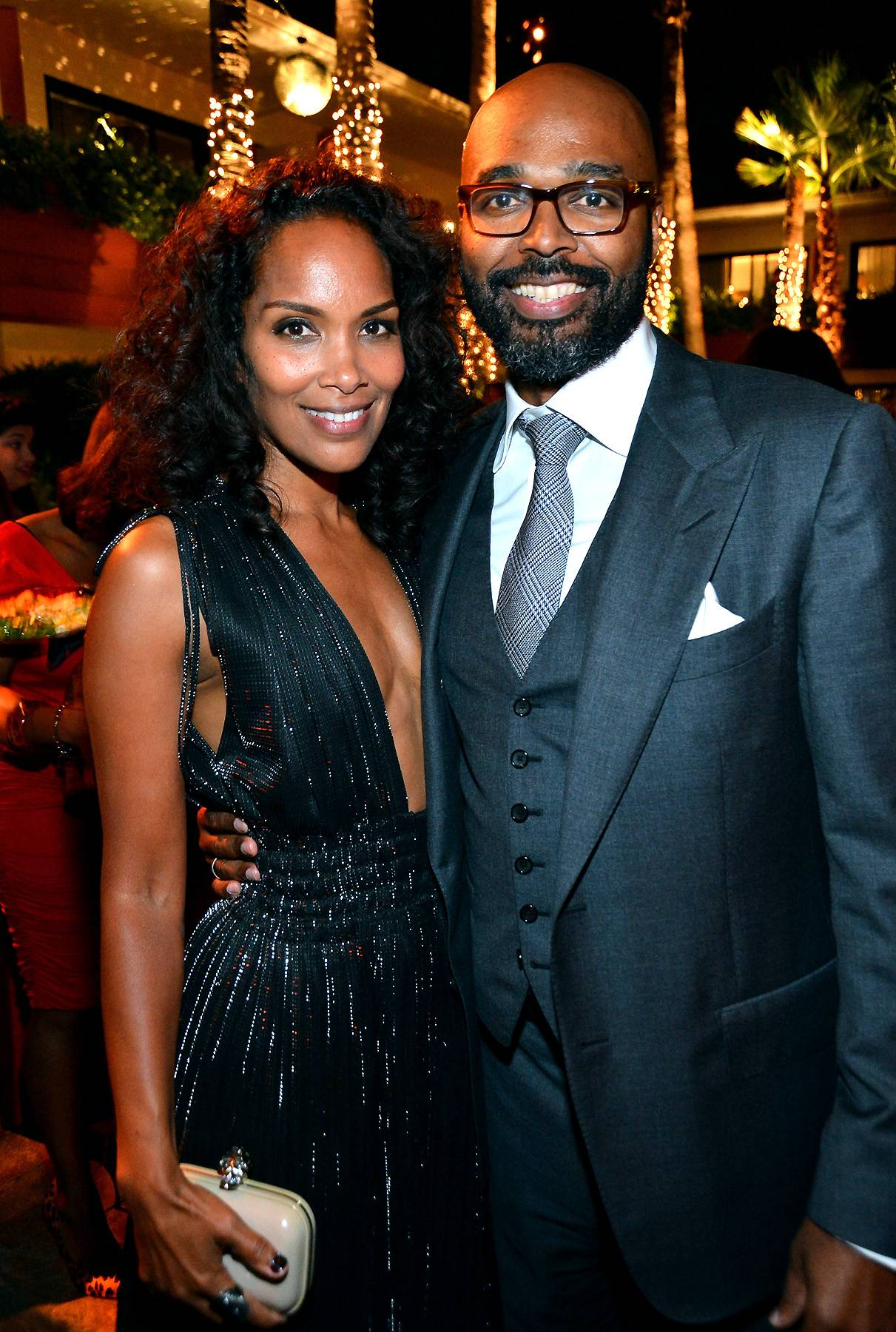"""Mara Brock Akil and Salim Akil - """"Can we cut the bullsh-- and get on about the business of living a life together?"""" This is the question Salim Akil asked Mara Brock Akil after their first dinner date. The Hollywood producing power couple met at a caf? in Los Angeles while she was a staff writer on the UPN hit show Moesha. They married in 1999 and went on to create Girlfriends, The GameandBeing Mary Jane.(Photo: Frazer Harrison/Getty Images)"""