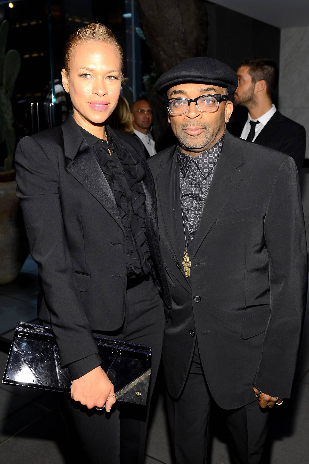 Spike Lee and Tonya Lewis Lee - Spike Lee couldn?t help but do the right thing and marry Tonya Lewis Lee on Oct. 2, 1993. Tonya met Spike at a dinner for the Congressional Black Caucus. Tonya said Spike came with a date, but after they crossed paths he introduced himself to her anyway. The rest is history.(Photo: Larry Busacca/Getty Images for Dolce & Gabbana)