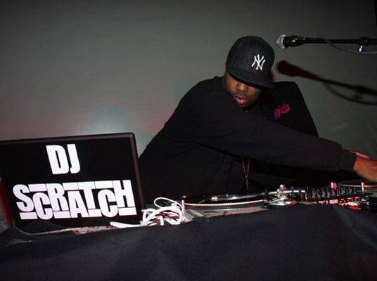 """On Location: Q-Tip's Album Release Party - Legendary DJ/Producer, DJ Scratch, gets busy on the turntables at Q-Tip's album release party for """"The Renaissance""""."""