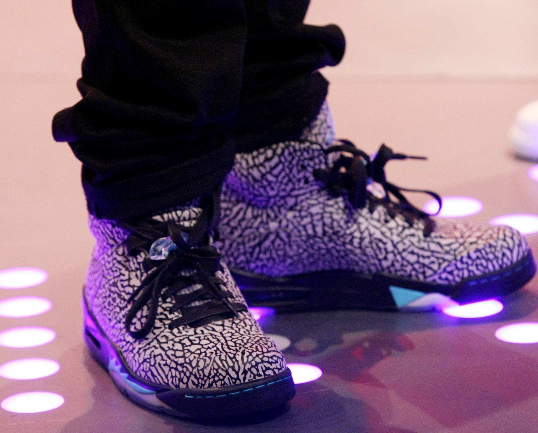 Swag Him Out! - Bow Wow does a little pattern therapy with the shoes on 106.(Photo: Bennett Raglin/BET/Getty Images for BET)