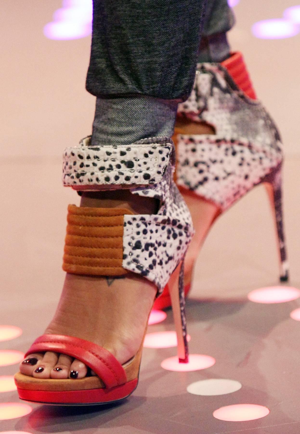 Skin to Skin - Angela Simmons wears some snake skin-inspired heels.(Photo: Bennett Raglin/BET/Getty Images for BET)