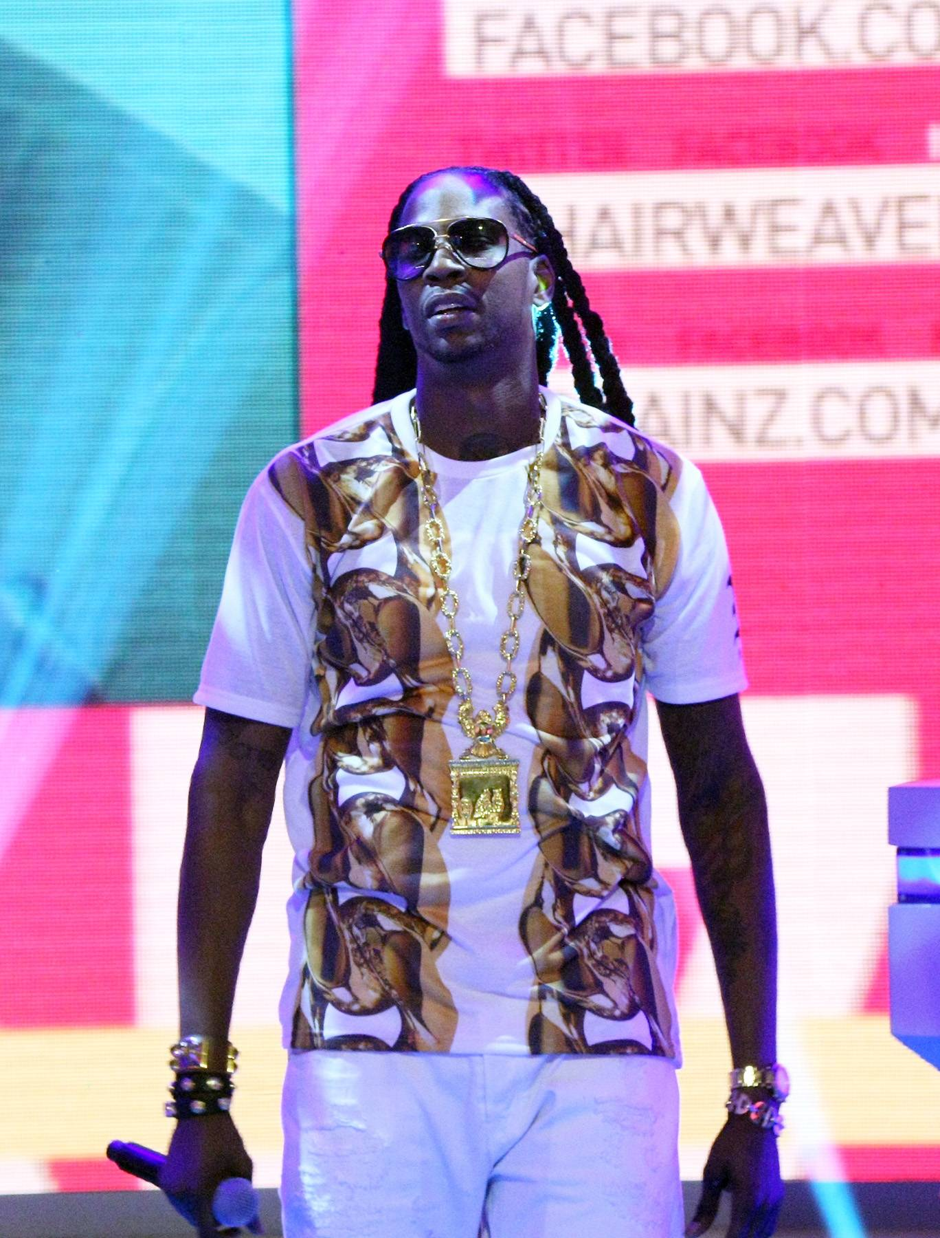 He Enters - Recording artist 2 Chainz performs at 106 & Park September 9, 2013, in New York City.(Photo: Bennett Raglin/BET/Getty Images for BET)