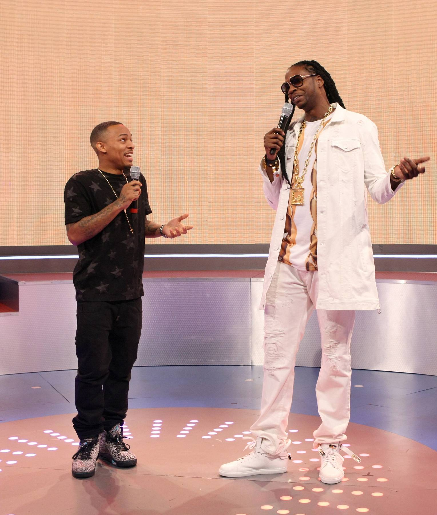 The Height Game - Bow Wow seems to want to challenge everyone to a height contest. (Photo: Bennett Raglin/BET/Getty Images for BET)