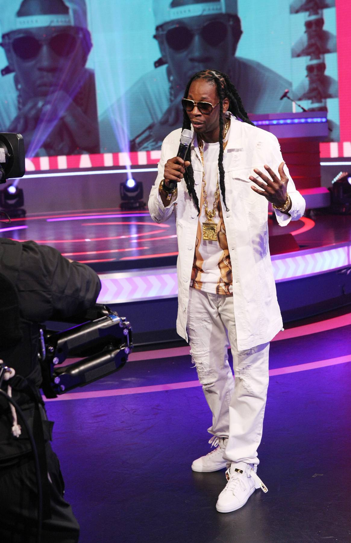 Face Time - 2 Chainz tries his hand at hosting.(Photo: Bennett Raglin/BET/Getty Images for BET)
