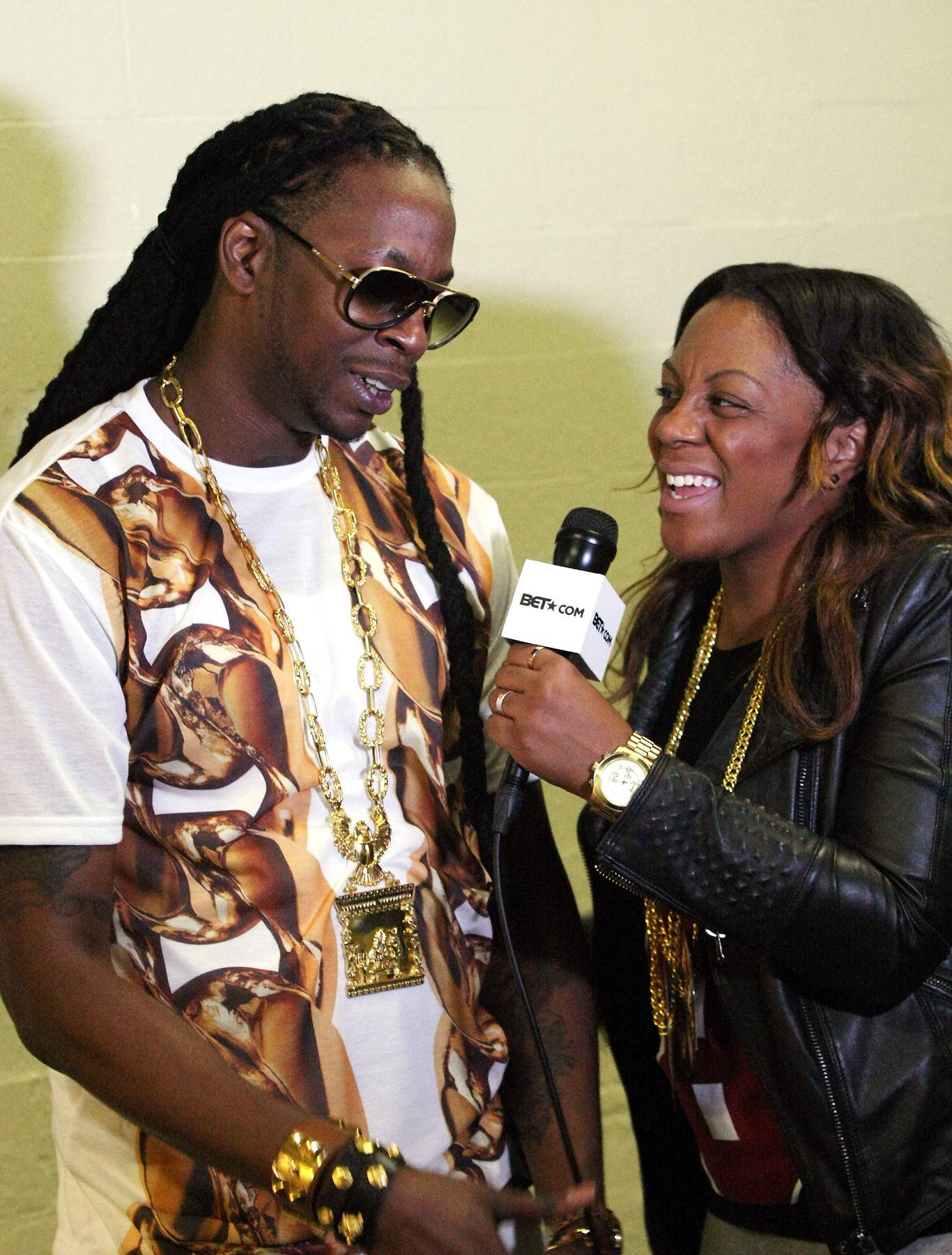 You Know? - The always smooth 2 Chainz gets a last laugh before he leaves 106 Backstage.(Photo: Bennett Raglin/BET/Getty Images for BET)