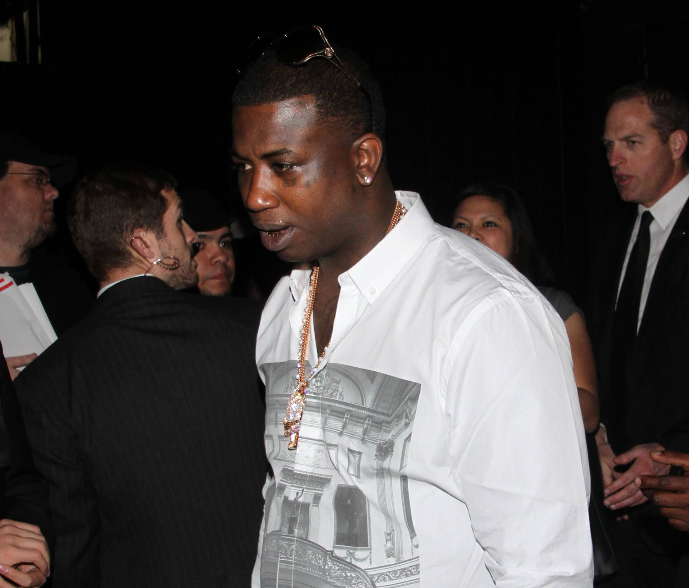 Tweet Sheet: Stars Respond to Gucci Mane Twitter Rant - Gucci Mane is going through something and he wants the Internets to know about it. Via a meltdown of sorts that's been going on for a few days, Gooch has called for an end to his Brick Squad; claimed that he's had sexual relations with Nicki Minaj, Ciara and Fantasia; and declared that Yo Gotti, Young Jeezy and T.I. are his list of Top 3 P---y A-- Rappers. But it's not a one-sided conversation. Some have responded with their own choice words. Click on to find out who said what.(Photo: Travis Wade/WENN.com)