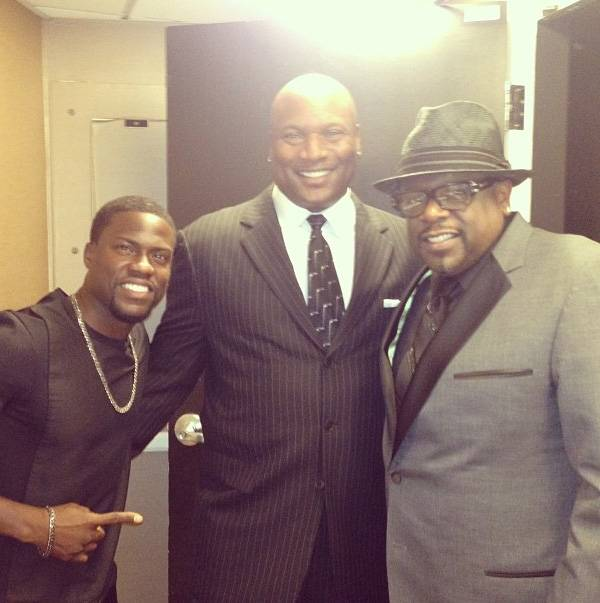 Bo Knows and So Does Kevin! - The legendary Bo Jackson kicks it with Kevin and Cedric. Is Kevin the Bo Jackson of comedy? Only time will tell.  (Photo: Instagram via Kevin Hart)