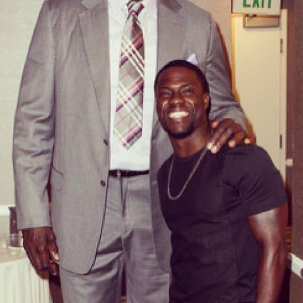 On Better Terms? - Kevin posed with Shaq for a hilarious pic. Looks like Diesel was too tall for the camera lens! We're also guessing they are on better terms than the last time they encountered each other.  (Photo: Instagram via Kevin Hart)