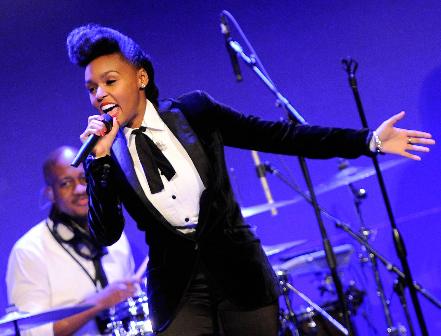 Electrifying! - The Electric Lady, Janelle Monae, is going to shock the world tonight on 106 at 6P/5C!  (Photo: Jemal Countess/Getty Images)