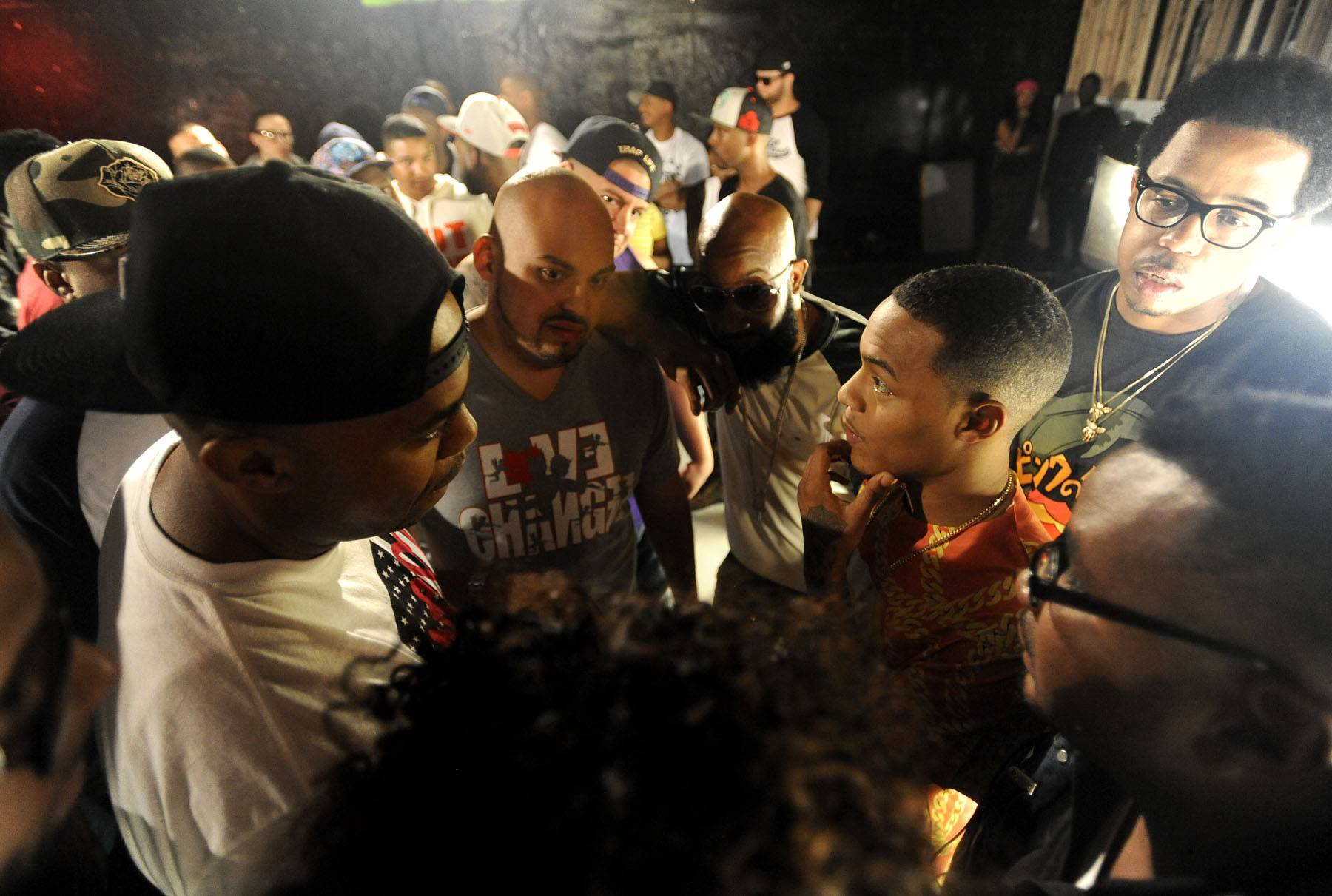 The Battle Erupts - Bow Wow is in the thick of the Ultimate Freestyle Friday battle on 106. (Photo: John Ricard / BET)