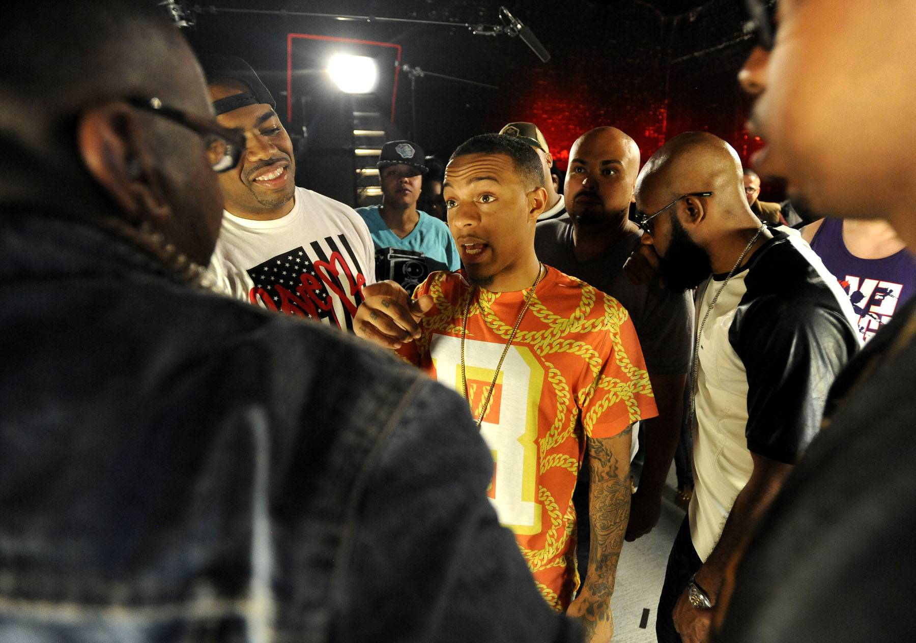 It's On! - Bow Wow is caught in the Ultimate Freestyle Friday battle on 106. (Photo: John Ricard / BET)