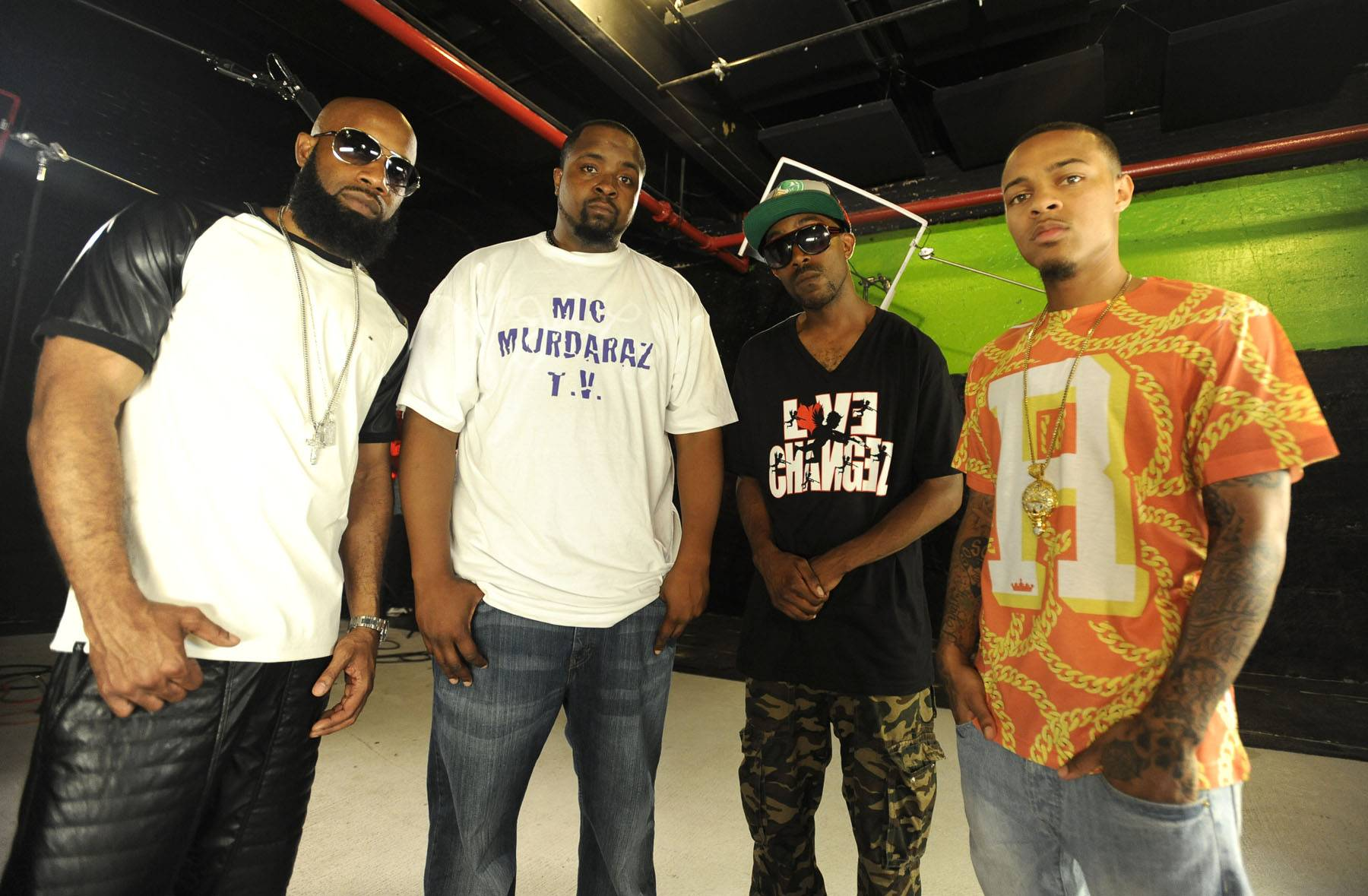 Four Amigos - Bow Wow and Smack with Ill Will and Sco at Ultimate Freestyle Friday battle on 106. (Photo: John Ricard / BET)