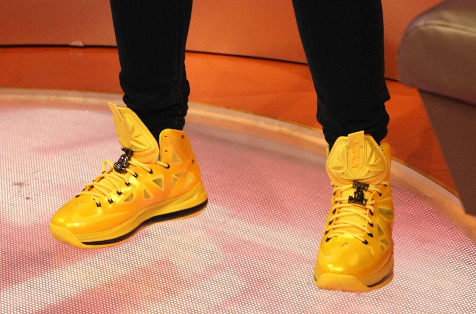 Mustard - Angela Simmons rocks the mustard sneaks on 106. (Photo: Bennett Raglin/BET/Getty Images for BET)