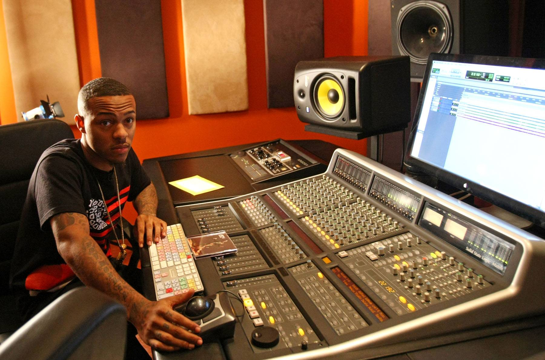 Drop the Beat - Host Bow Wow behind the soundboard.(Photo: Bennett Raglin/BET/Getty Images for BET)