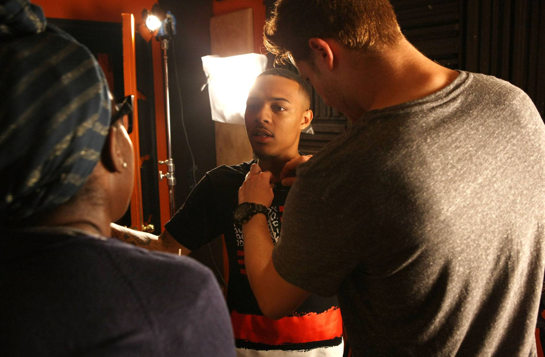 Lights, Camera, Backstage - Host Bow Wow preps backstage. (Photo: Bennett Raglin/BET/Getty Images for BET)