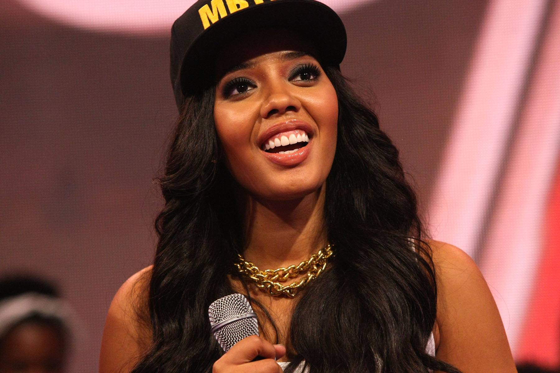 Look Up in the Sky - Host Angela Simmons looking up in her down time. (Photo: Bennett Raglin/BET/Getty Images for BET)