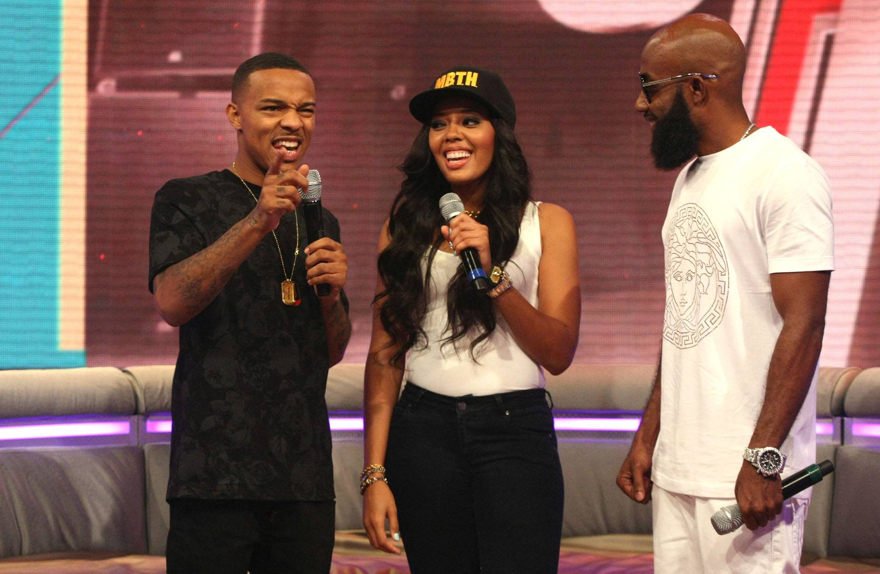 The Laughs Continue - Bow Wow, Angela Simmons and Troy Smack Mitchell share a laugh on 106. (Photo: Bennett Raglin/BET/Getty Images for BET)