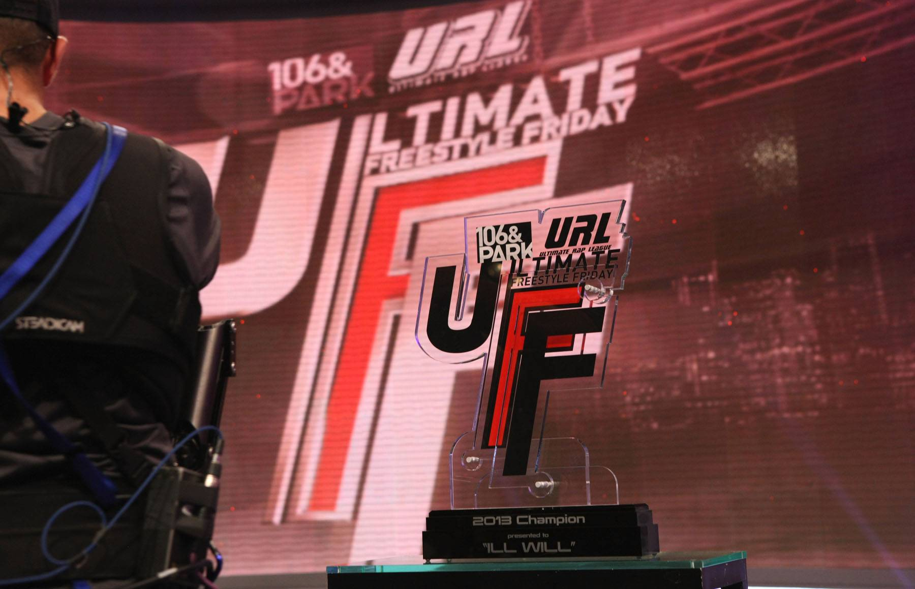 Ultimate Freestyle Friday - The Freestyle Friday trophy is presented. Who's going to win it? (Photo: John Ricard / BET)