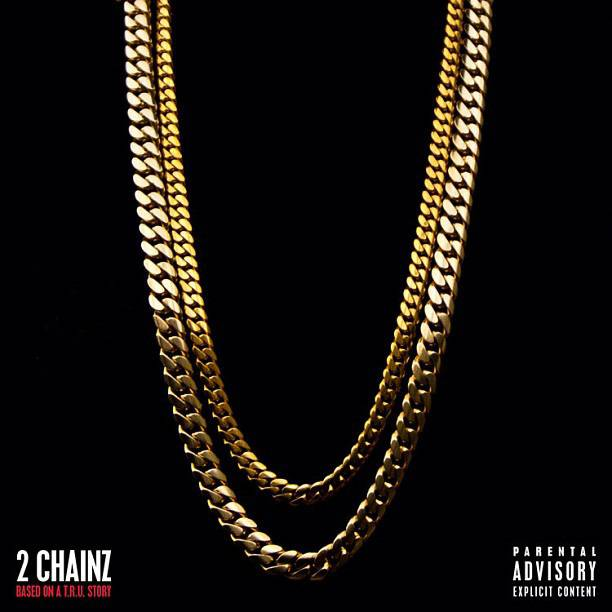 2 Chainz Back – July 17, 2012 - 2 Chainz unveiled the cover for his debut as a solo artist, Based on a T.R.U. Story. The minimalist design was crafted by Kanye West's creative house, DONDA, and was selected for the #2 spot on Complex magazine's 25 best covers of 2012.(Photo: Def Jam Records)