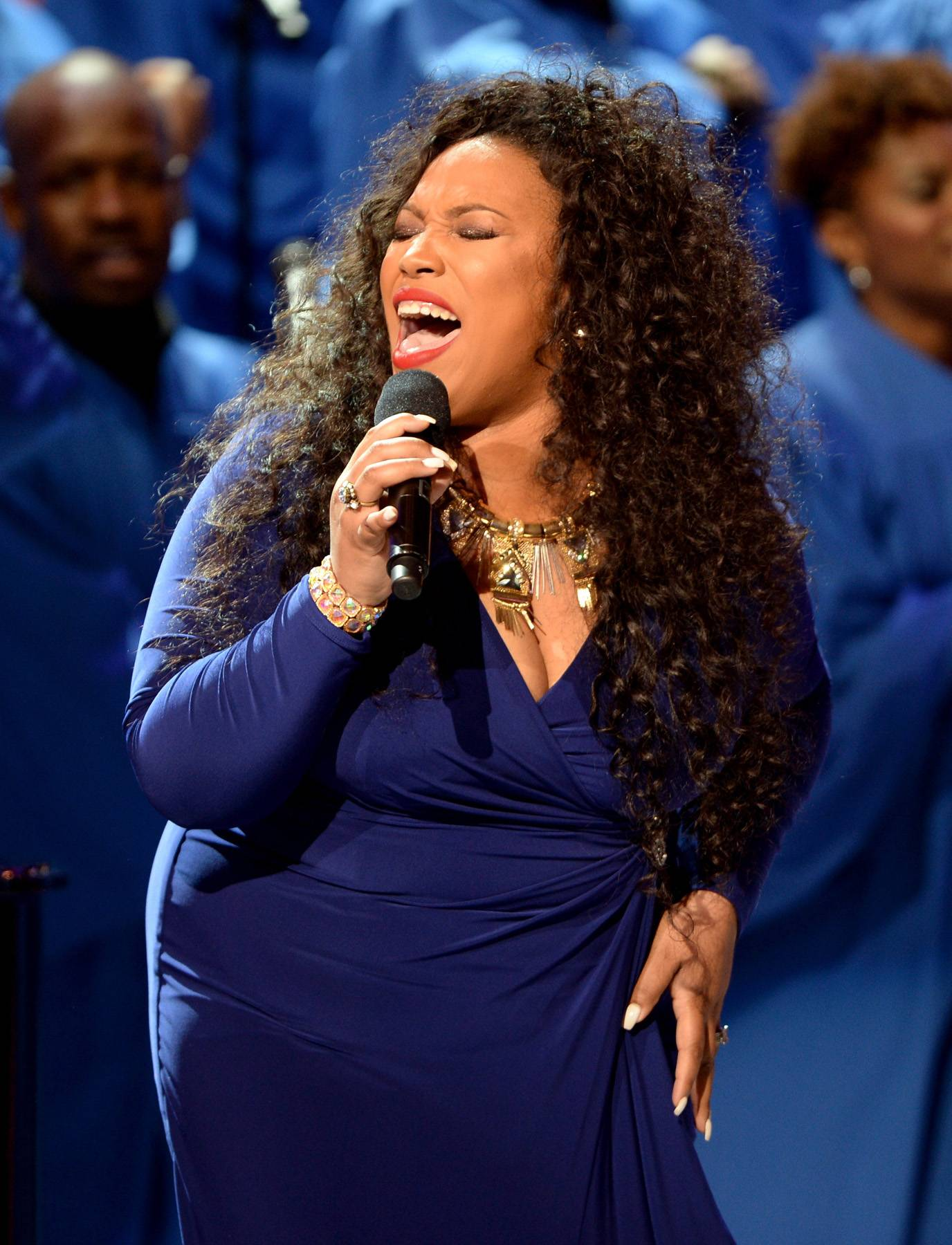 An Anointed Tribute - Tasha Page-Lockhart blesses the stage as she pays tribute to Celebration of Gospel honoree Richard Smallwood.(Photo: Jason Kempin/Getty Images for BET)