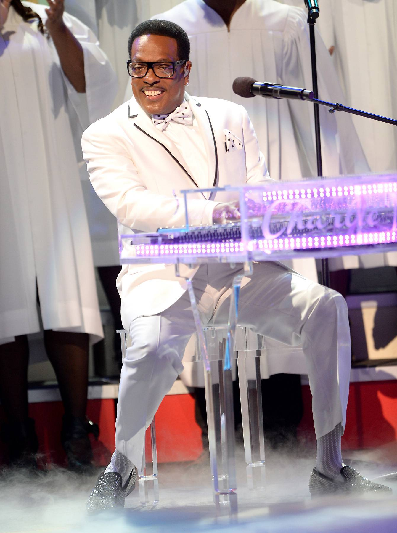 Electrifying - Equipped with his illuminated piano, Charlie Wilson showed his musicianship while giving a musical testimony.(Photo: Jason Kempin/Getty Images for BET)