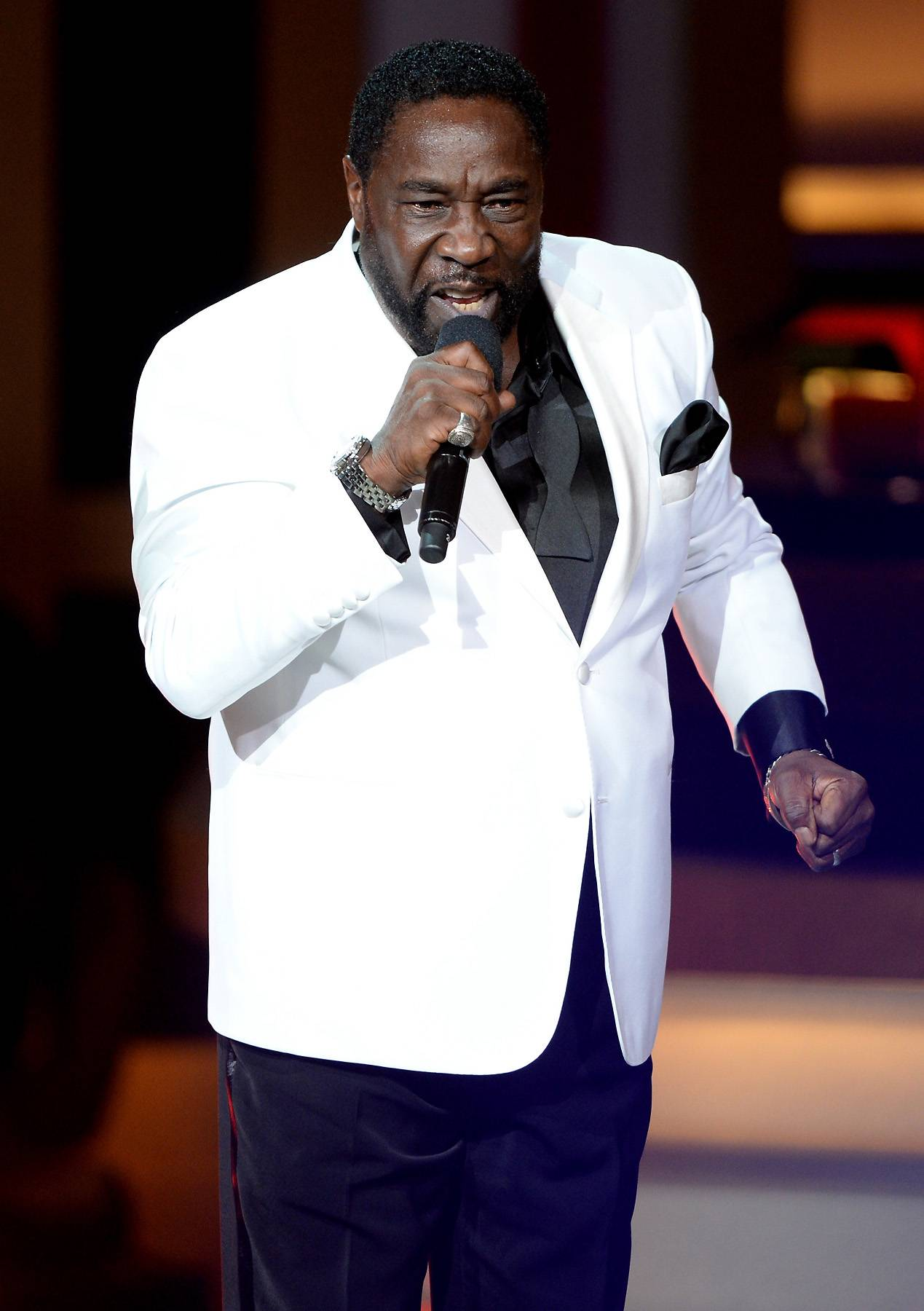 Surprise! - Surprise performer and R&B great Eddie Levert joined Celebration of Gospel to go foward in faith.(Photo: Jason Kempin/Getty Images for BET)