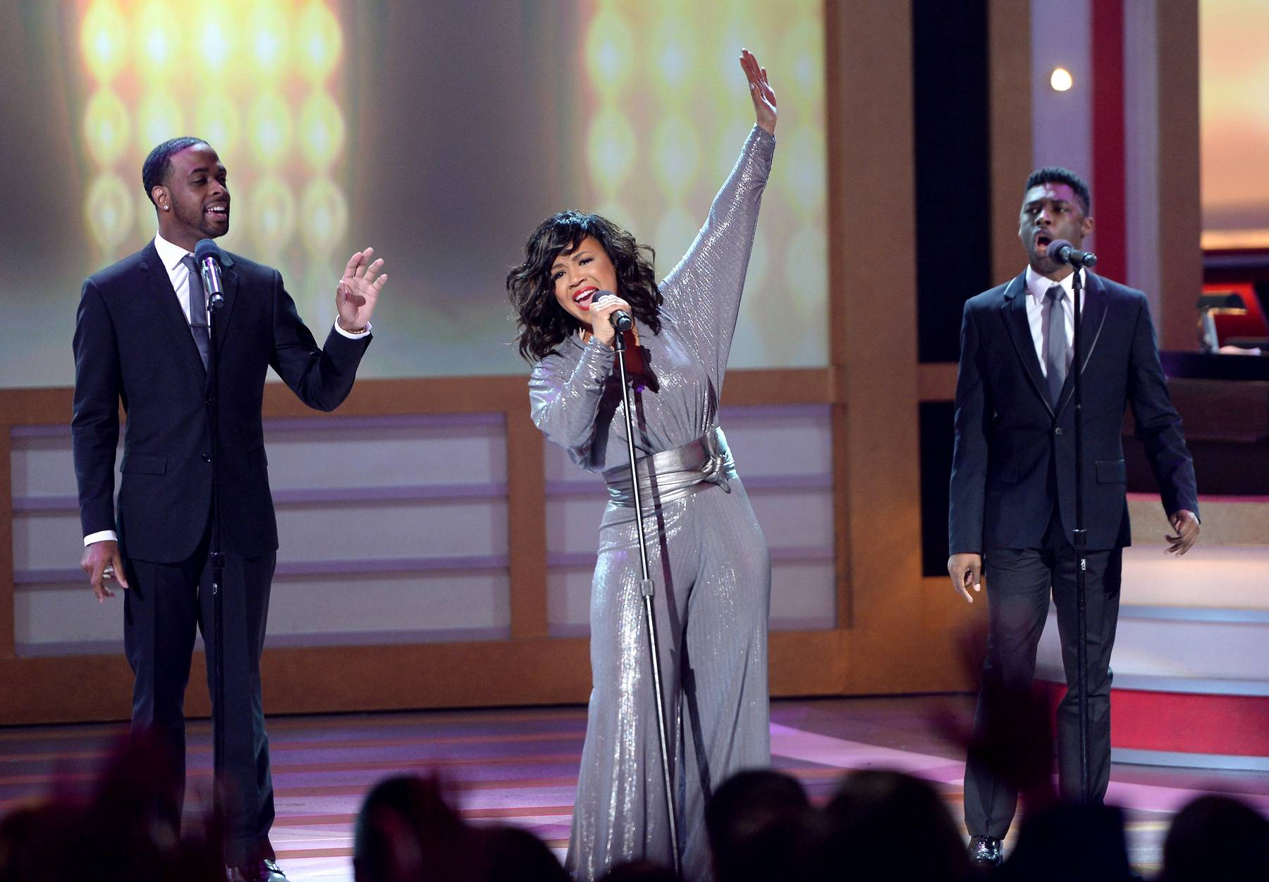 """Need A Lilttle More Jesus? We Got You - Pop and gospel trailblazer Erica Campbell performed the first single lifted off her first solo album, """"A Little More Jesus."""" The drum-heavy record coupled with Campbell's always on point vocals gave us all the Jesus we needed. On Sunday April 6 at 8P/7C, it's your turn!(Photo: Jason Kempin/Getty Images for BET)"""