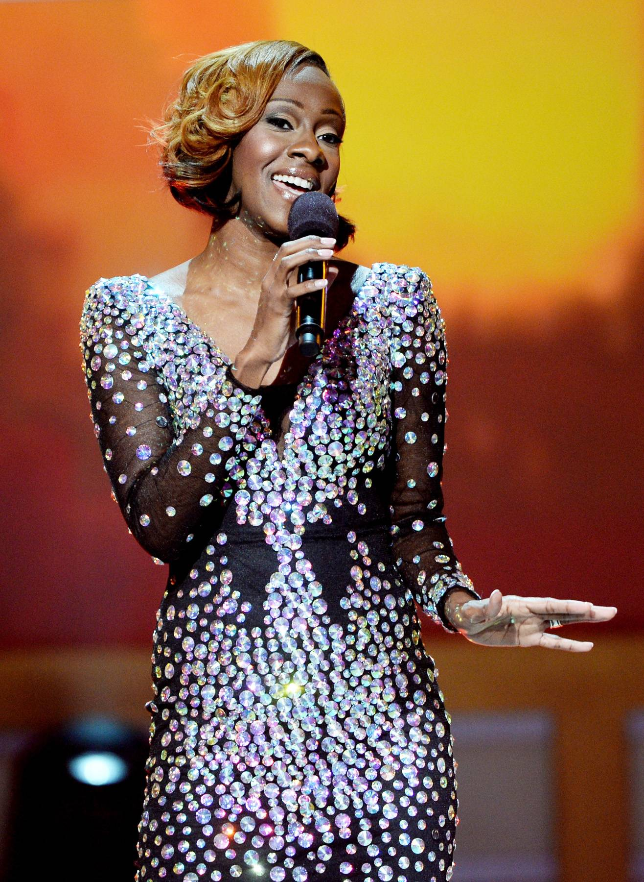 Sunday Best - BET Sunday Best winner Le'Andria Johnson lights up the stage with a sequined number and her powerhouse vocals, proving that not only is she forward in faith but she's fashion forward as well.(Photo: Jason Kempin/Getty Images for BET)