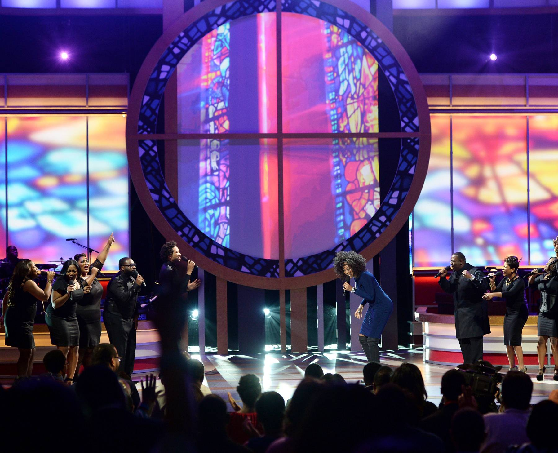 A Sight to See - A beautiful performance coupled with a beautiful set makes for a sight to see. This was the case for Yolanda Adams' show down at Celebration of Gospel.(Photo: Jason Kempin/Getty Images for BET)