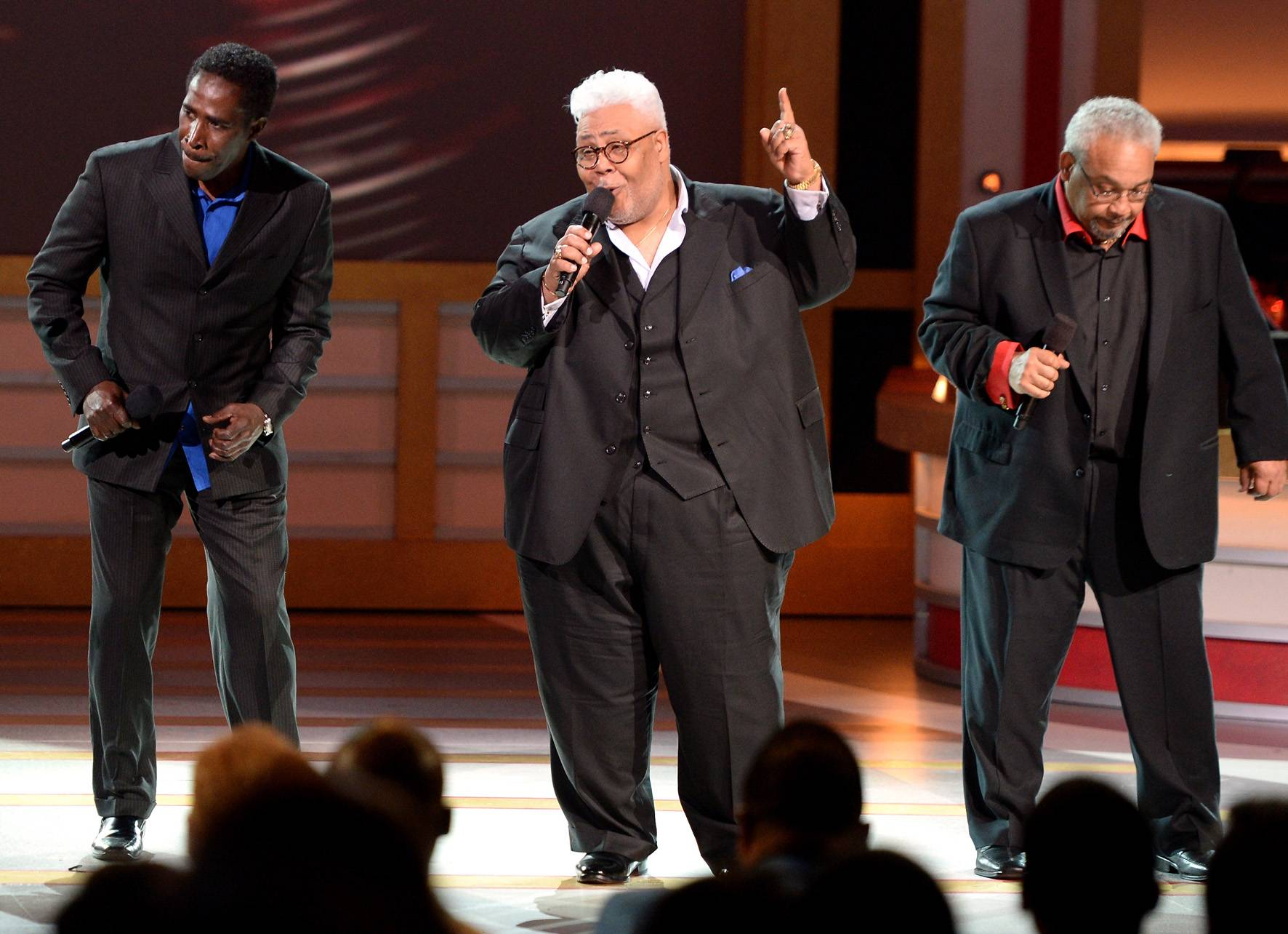 """Aisle Dancin' - The legendary sounds of The Rance Allen Group would propel the shiest saint from his seat to the aisle. While performing """"At Your Feet"""" and """"Got Me Dancin,"""" The Rance Allen Group had the audience doing exactly that!(Photo: Jason Kempin/Getty Images for BET)"""