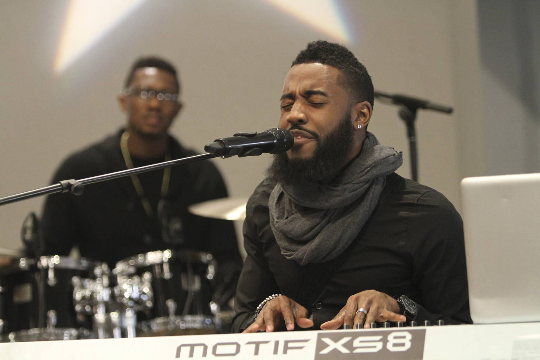 Behind the Mic - Behind the mic and his keyboard, artist Charles King performed a moving set during the Celebration of Gospel Prayer Breakfast.  (Photo: Maury Phillips/Getty Images for BET)