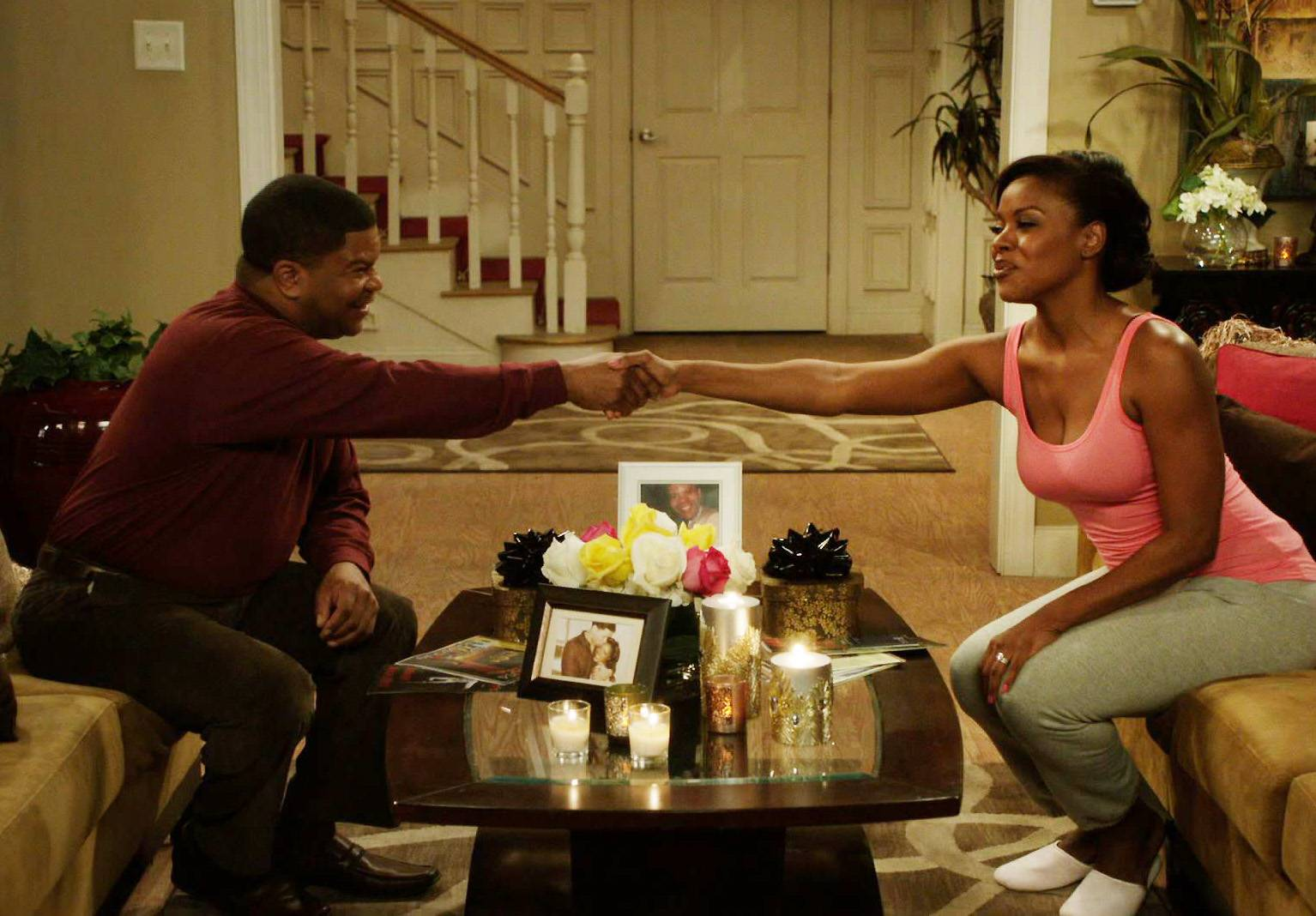 Back Together - So Charles reunites Stacy with her boo, Dr. Sutton. (Photo: BET)