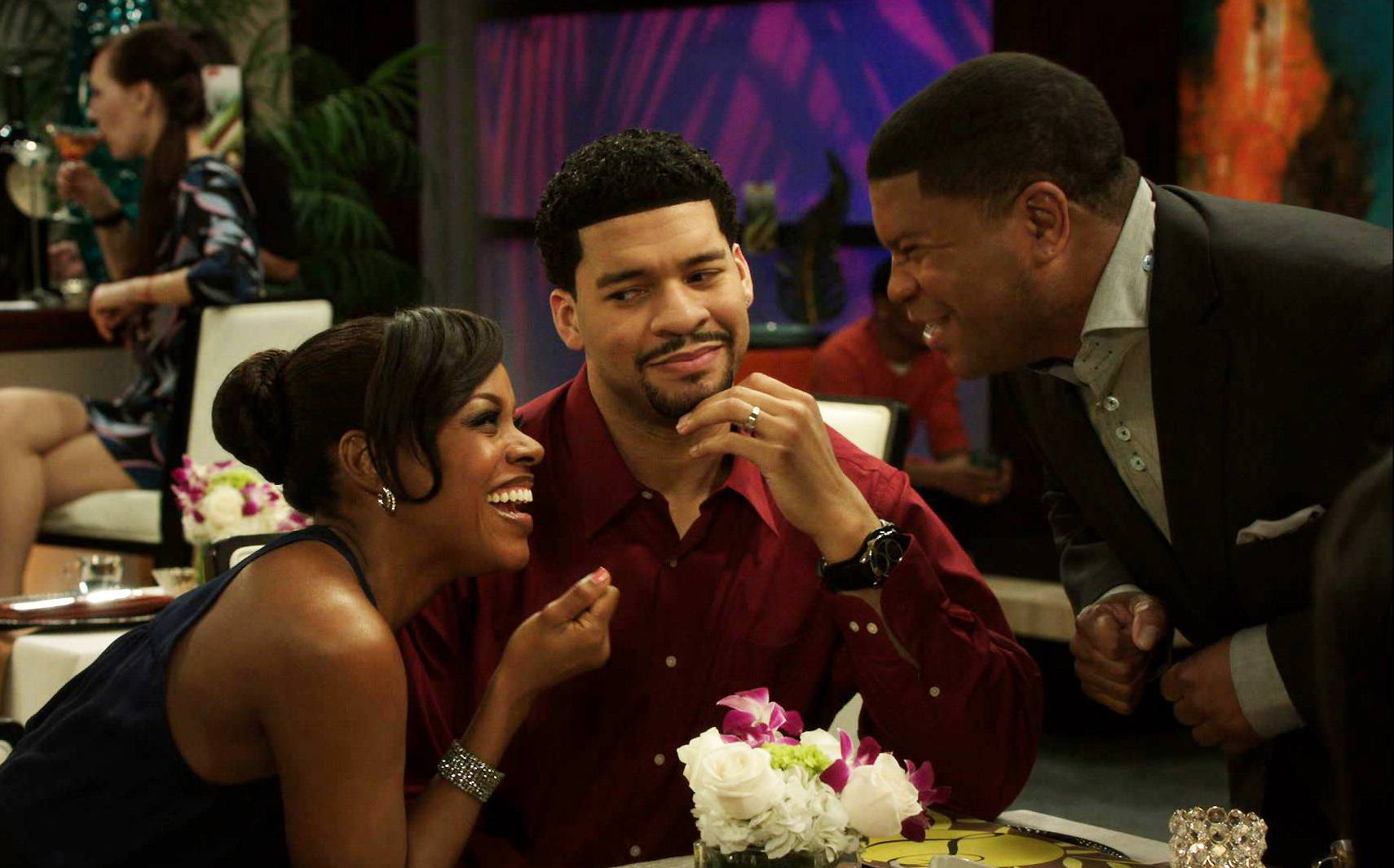 Big Break! - After suffering through a terrible film, Charles has the brilliant idea of sending Stacy on a date with another man!(Photo: BET)