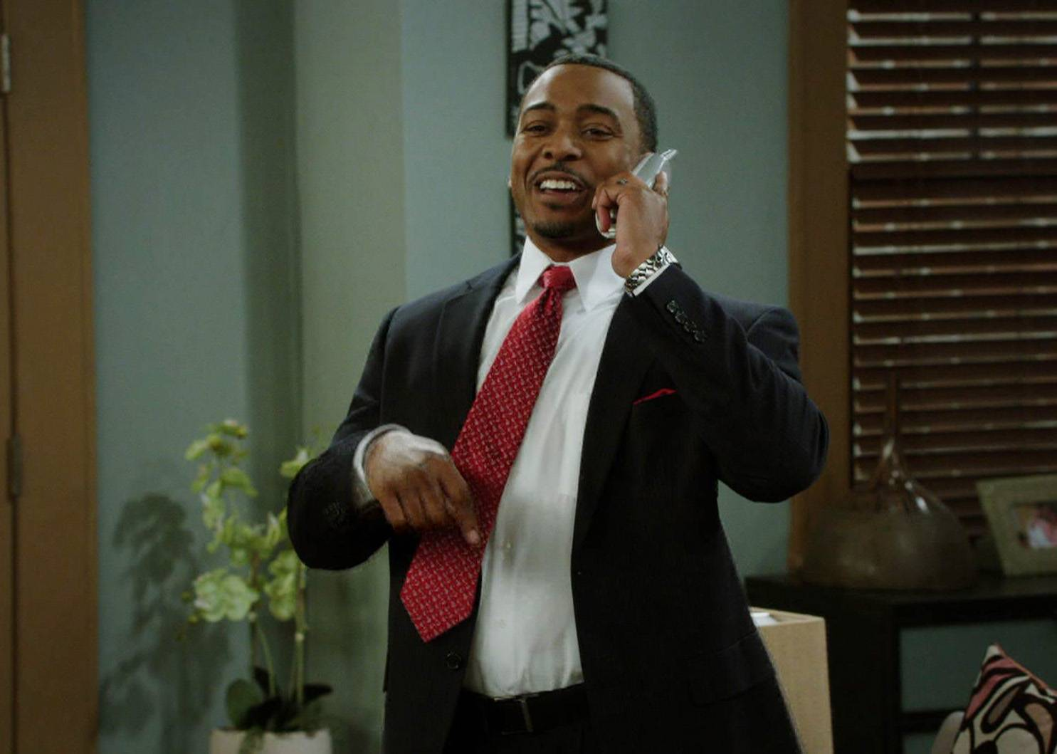 President Woodson - Jamal and Tasha think of all the possible outcomes (for themselves) of sending the twins to an upper crust private school.(Photo: BET)