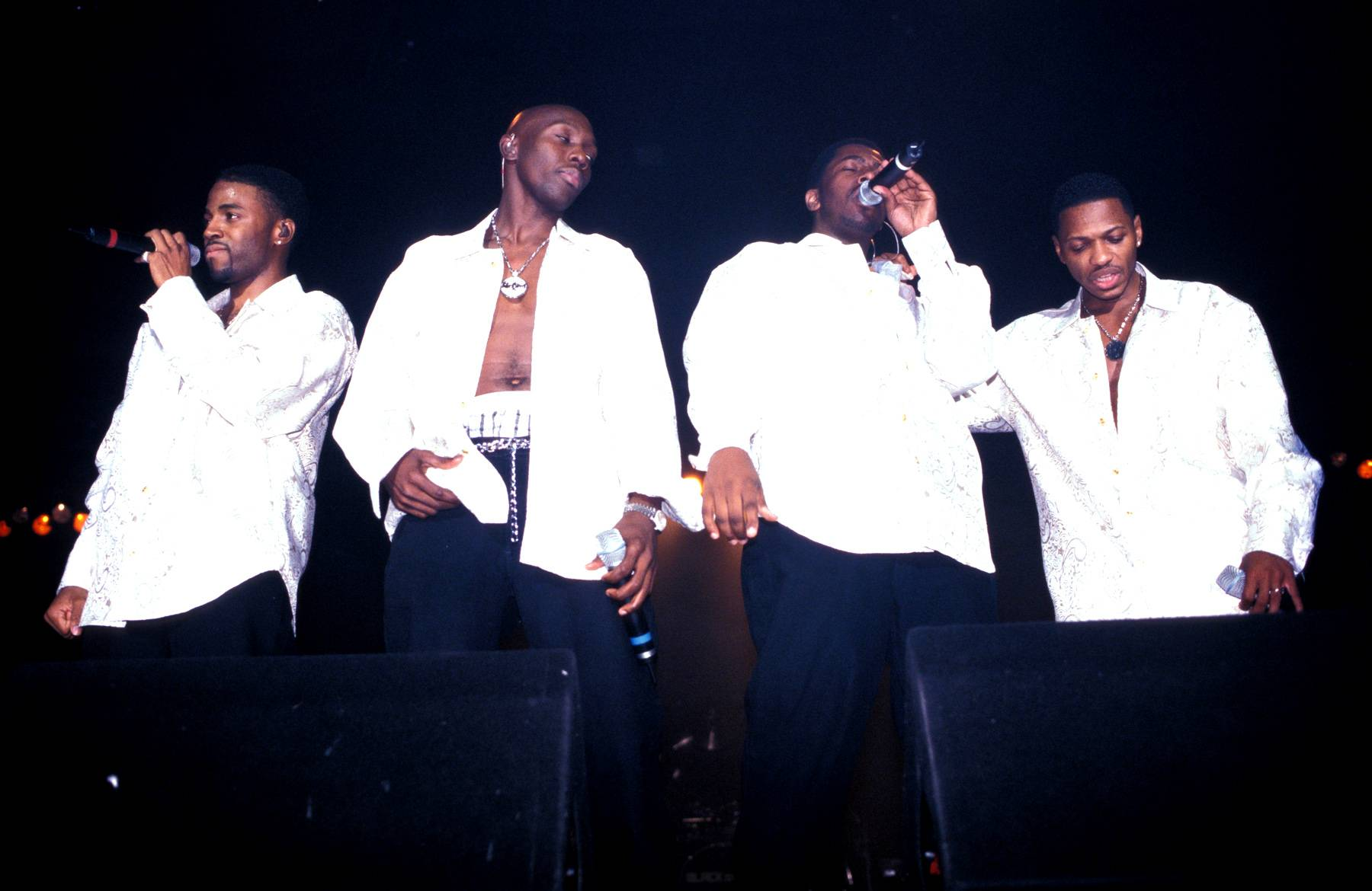"""Blackstreet - Blackstreet and Hezekiah Walker are a natural fit because the two worked together on the quartet's song """"Finally."""" The song fused Blackstreet's signature swag and harmonies with Hezekiah Walker's gospel sensibilities for the perfect tune.  (Photo: Mick Hutson/Redferns)"""