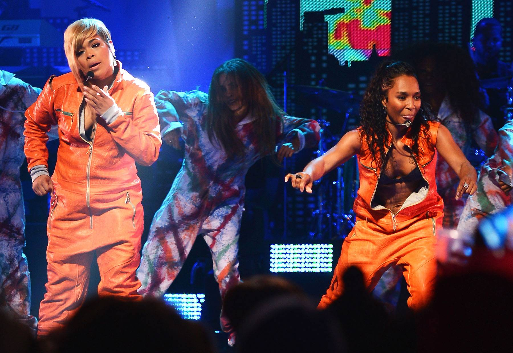 TLC's Fundraising Success - TLC's fundraising efforts for their new album are going well. They've raised $50,000 in one day and the total is still climbing.  (Photo: Michael Loccisano/Getty Images)