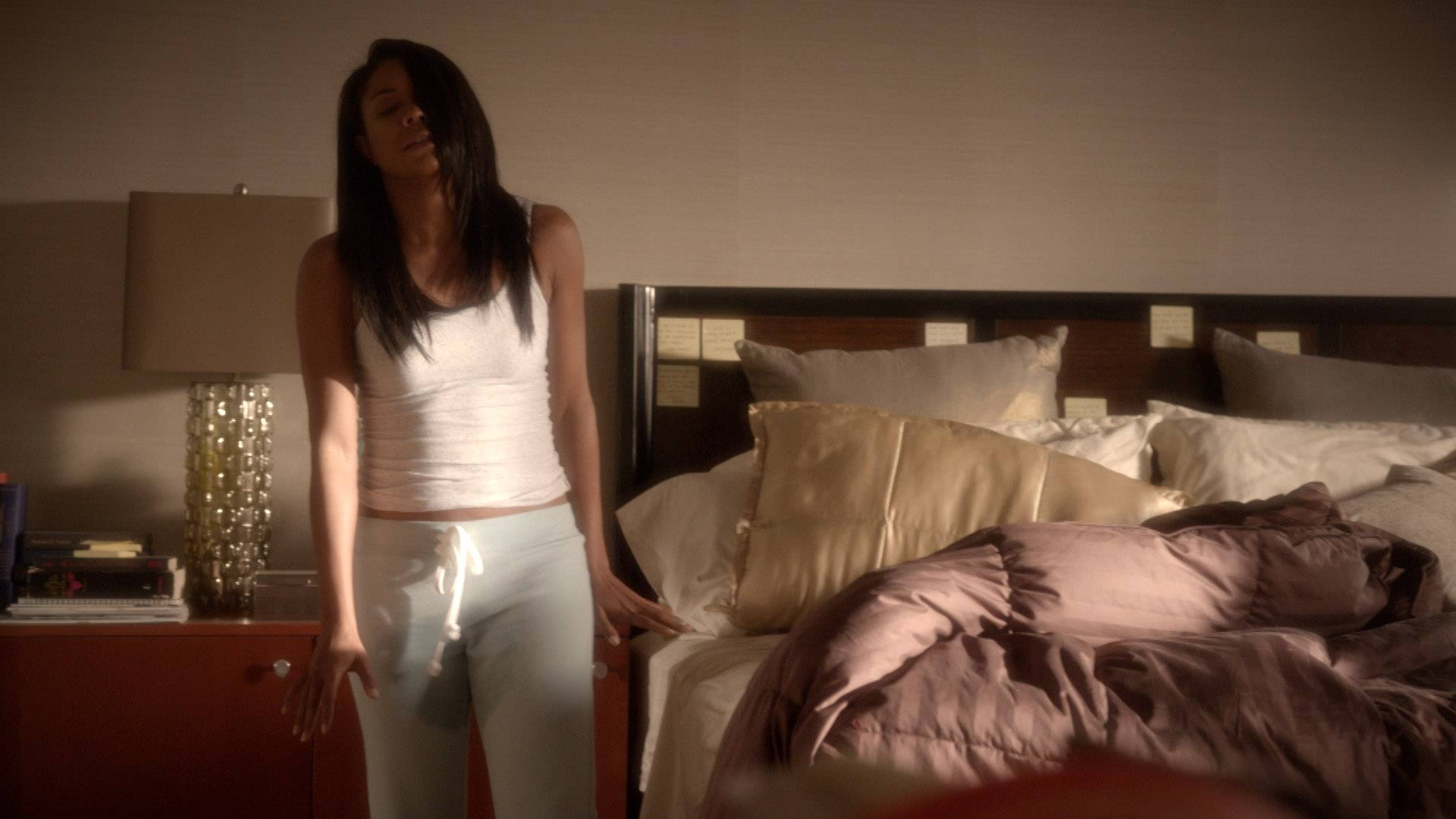 Pees in the Trap - That moment you realize you're a grown woman who just wet the bed.   (Photo: BET)