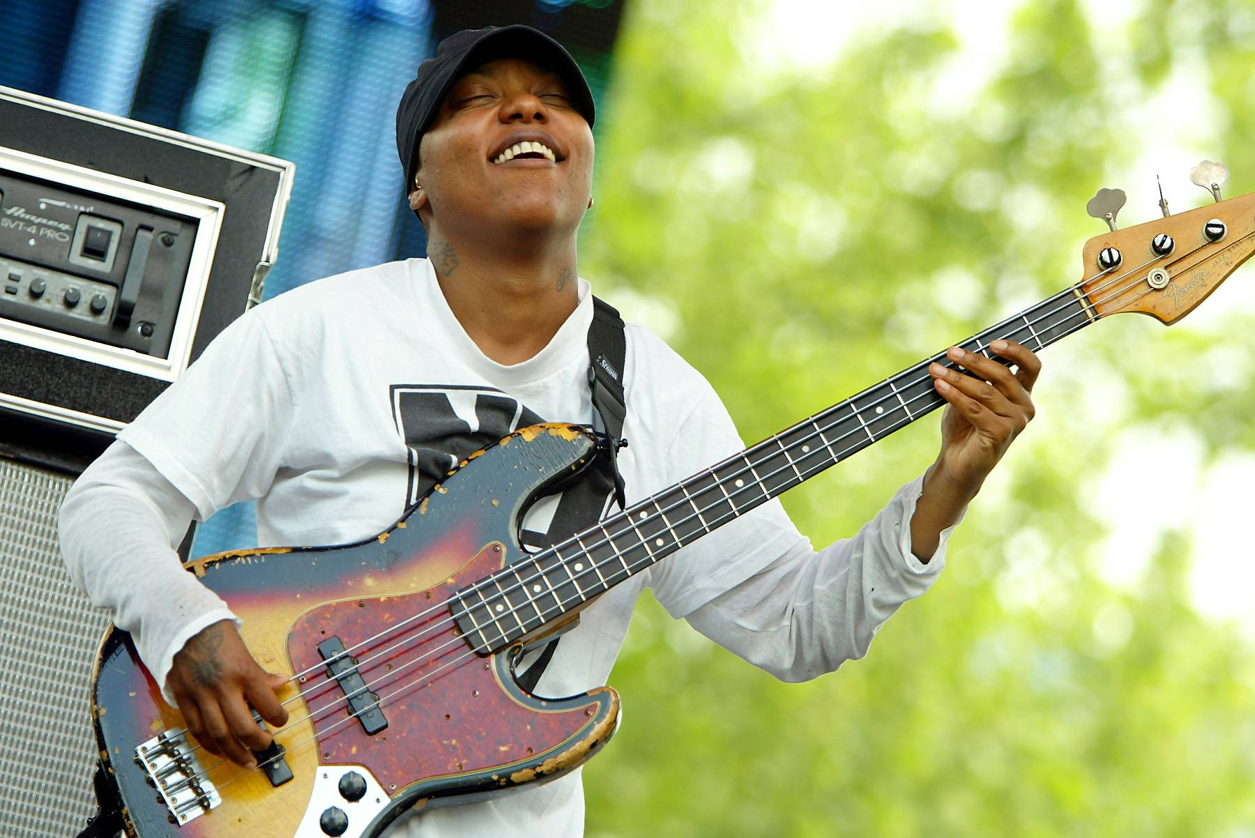 """""""Please Don't Let Me Be Misunderstood"""" - Meshell N'Degeocello - Meshell Ndegeocello sings a stirring rendition of """"Please Don't Let Me Be Misunderstood,"""" which was made popular by Being Mary Jane soundtrack favoriteNina Simone.  (Photo: Scott Gries/Getty Images)"""
