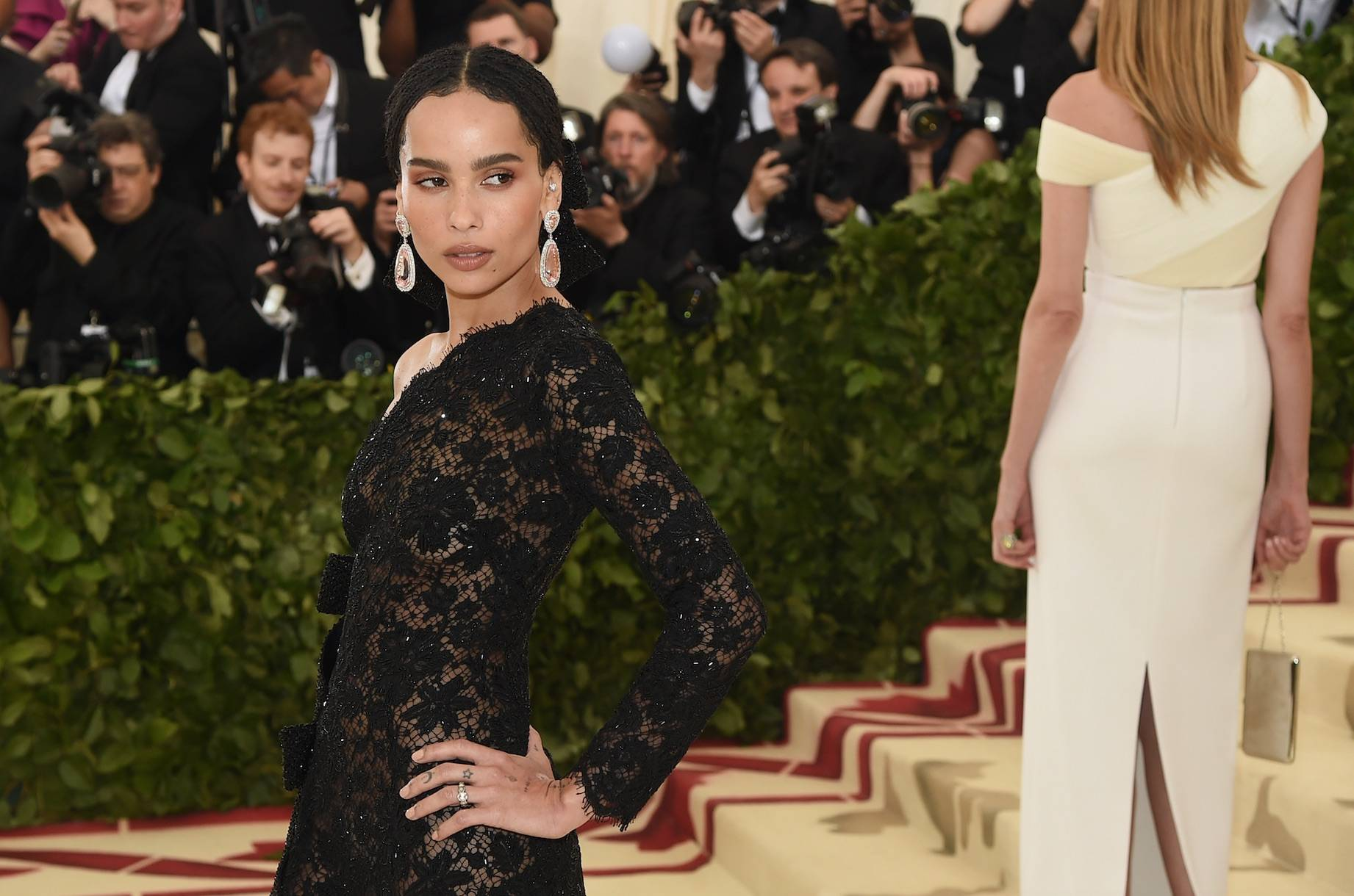 """Zoe Kravitz - Sis was engaged this whole time without anyone even saying anything about that big rock on her finger! In her recent interview with Rolling Stone, Zoe Kravitz reveals she's been engaged to her boo, Karl Glusman, for eight months. She was even showing off her ring at this years Met Gala. She told Rolling Stone, """"Oh yeah,I'm engaged... I haven't told anyone yet — I mean, I haven't told the world. I wanted to keep it private."""" Welp, you succedded because we had no idea! (Photo: Jamie McCarthy/Getty Images)"""