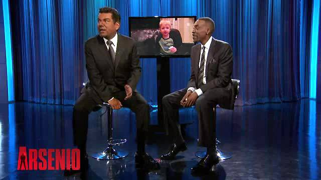 8. He's Cool With Arsenio - It's nothing but respect from one comedian to another.  (Photo: The Arsenio Hall Show via CBS)