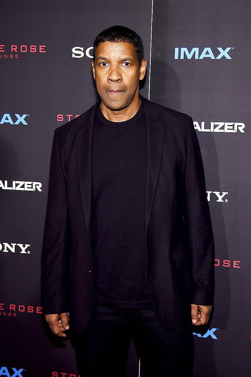 Denzel Washington - September 25, 2014 - Our favorite leading man, Denzel Washington came through to talk new film,The Equalizer and more! Watch a clip now! (Photo: Jamie McCarthy/Getty Images)