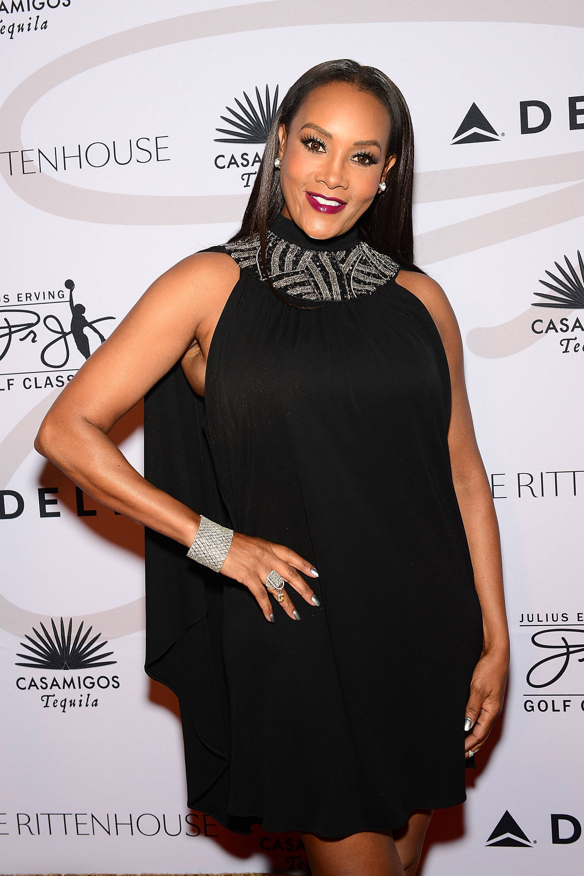 """Rumor Control - WhenVivica A. Foxhit up Andy Cohen's Watch What Happens Live and hinted that 50 may be in the closet, the rapper showed no mercy on IG. """"Noooo, she wasn't ready."""" (Kevin Hart voice)(Photo: Lisa Lake/Getty Images for the Julius Irving Golf Classic)"""