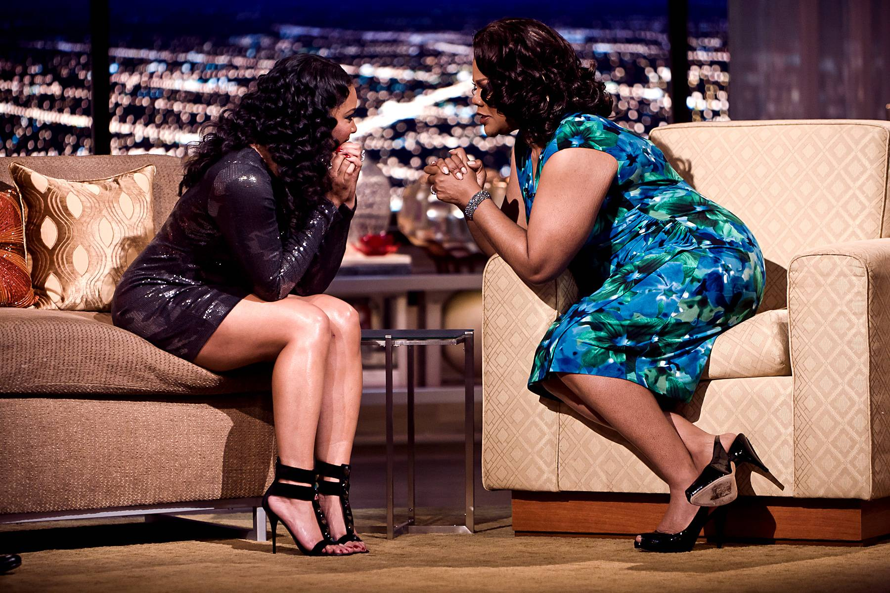 Tamala Jones Enters the Penthouse! - Mo?Nique welcomes back the wonderful Tamala Jones!(Photo: Darnell Williams/BET)