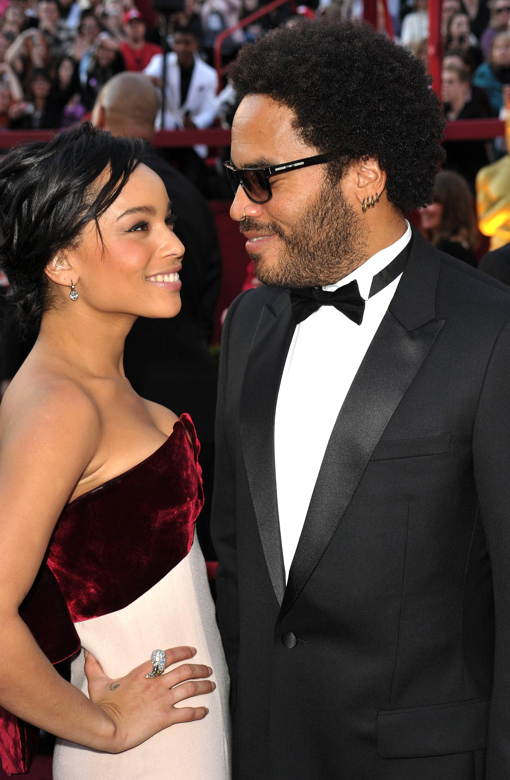 """Lenny and Zoe Kravitz  - When asked if he preferred Rock God or Sex God status, Lenny Kravitz, father of X-Men: First Class actress Z?e, said: """"I am neither. My favorite role is father.""""(Photo: John Shearer/Getty Images)"""