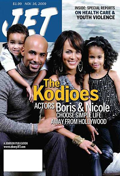 """Boris Kodjoe - I'll practice my lines in the bathroom and Sophie will knock on the door and say, """"Daddy are you talking to yourself again?""""(Photo: Jet Magazine)"""