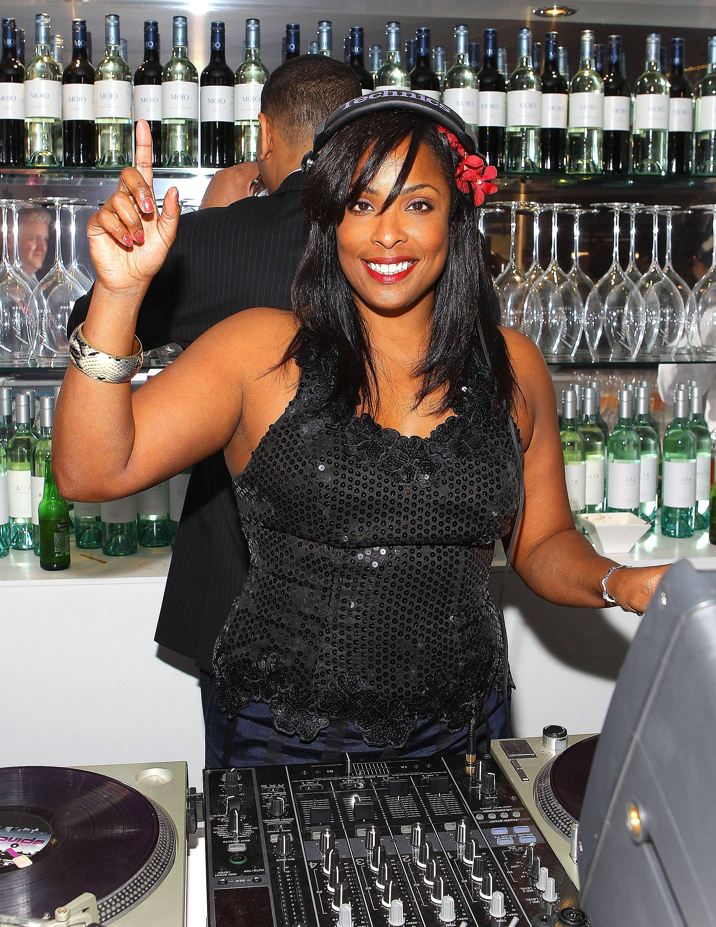 17. DJ Spinderella - As DJ for Salt-N-Pepa, the best-selling female rap group of all time, Spinderella was an inspiration to female turntablists worldwide. She went on to break records for radio stations in L.A. and Dallas. (Photo: Scott Barbour/Getty Images)