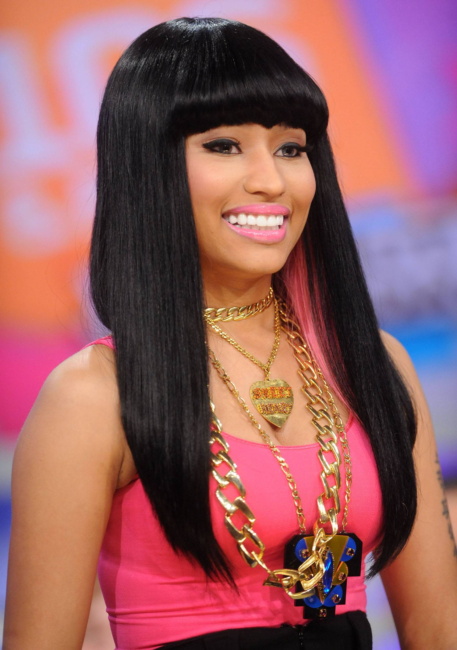 """First Things First - Nicki Minaj is not only the first lady of Young Money, she's a trailblazer who has set precedents in her short career. Her latest chart-breaker came this week when she became the first woman to simultaneously have four songs in the top 10 of Billboard?sMainstream R&B/Hip-Hop Chart. The crowning moment came after her smash ?Truffle Butter,? with Lil Wayne and Drake, took the top spot.""""Truffle Butter"""" is joined by """"Only,"""" her collaboration with Beyonc?called """"Feeling Myself"""" and her assist on Rae Sremmurd's""""Throw Some Mo.""""Check out more of her pinkprint to success.(Photo: Brad Barket/PictureGroup)"""