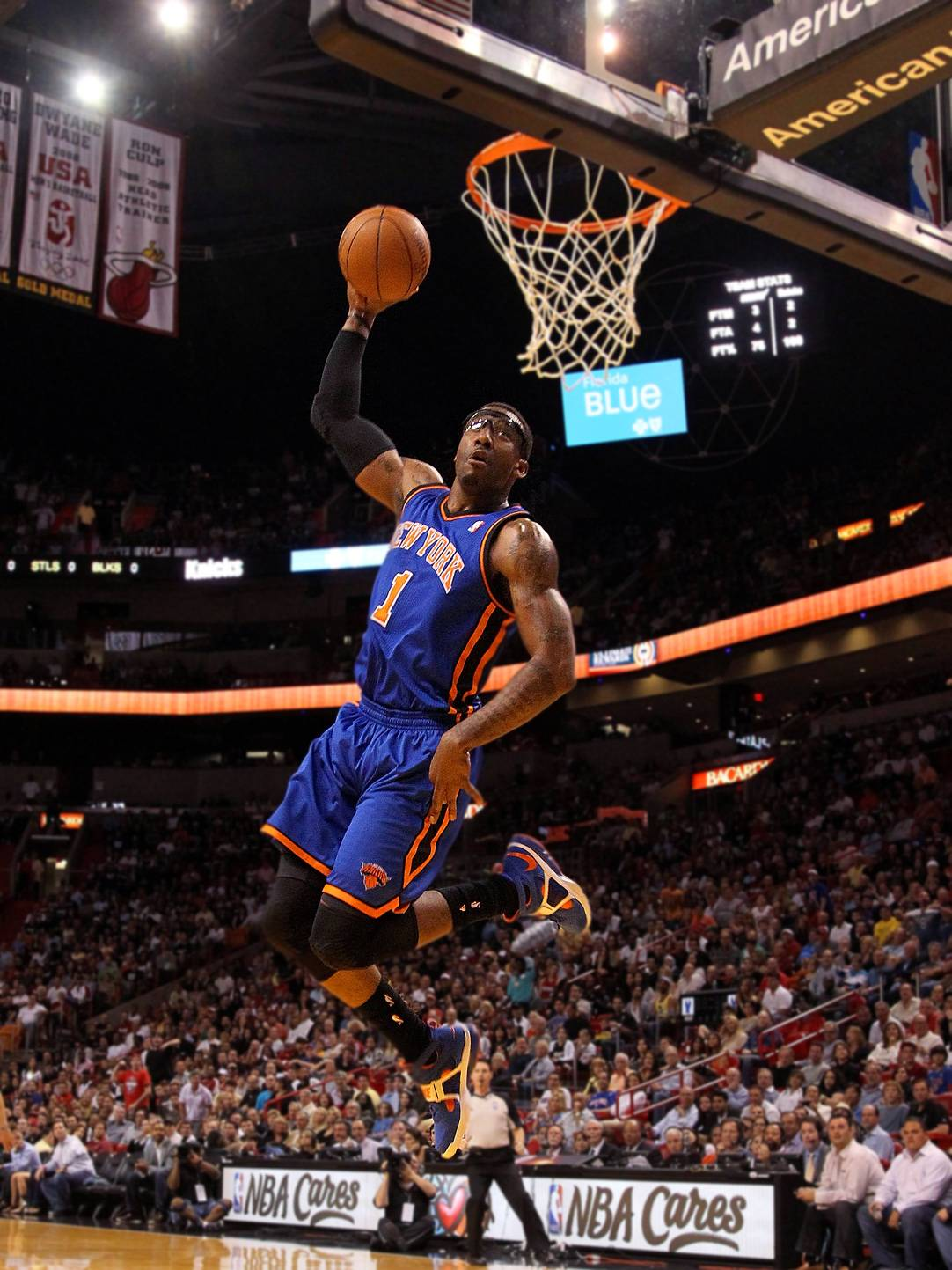 #6 Amar'e Stoudemire (Tie) - Amar'e Stoudemire made a total of $26.2 million this past season.  The newly engaged star of the New York Knicks signed a five-year, $100 million deal with the team in 2010. The rest of this past season?s earnings came from a five-year endorsement with Nike signed last summer.(Photo: Mike Ehrmann/Getty Images)